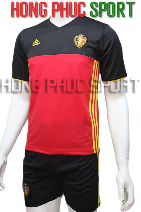 Bộ quần áo tuyển Bỉ Euro 2016 2017 sân nhà màu đỏ đen