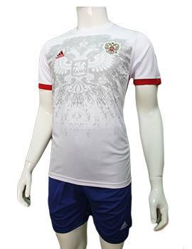 Mẫu áo tuyển Nga Euro 2016 sân khách màu trắng