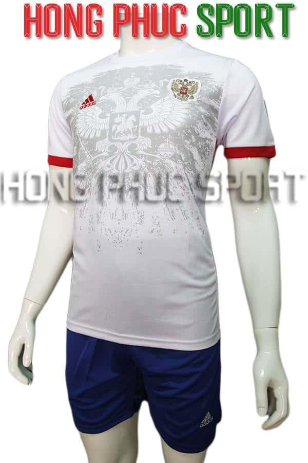 Bộ quần áo tuyển Nga Euro 2016 sân khách màu trắng