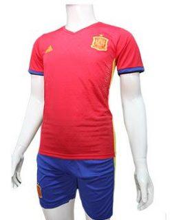 Mẫu áo tuyển Tây Ban Nha Euro 2016 màu đỏ truyền thống