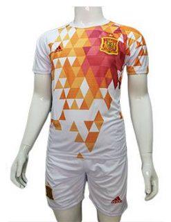 Mẫu áo đá banh tuyển Tây Ban Nha Euro 2016 màu trắng
