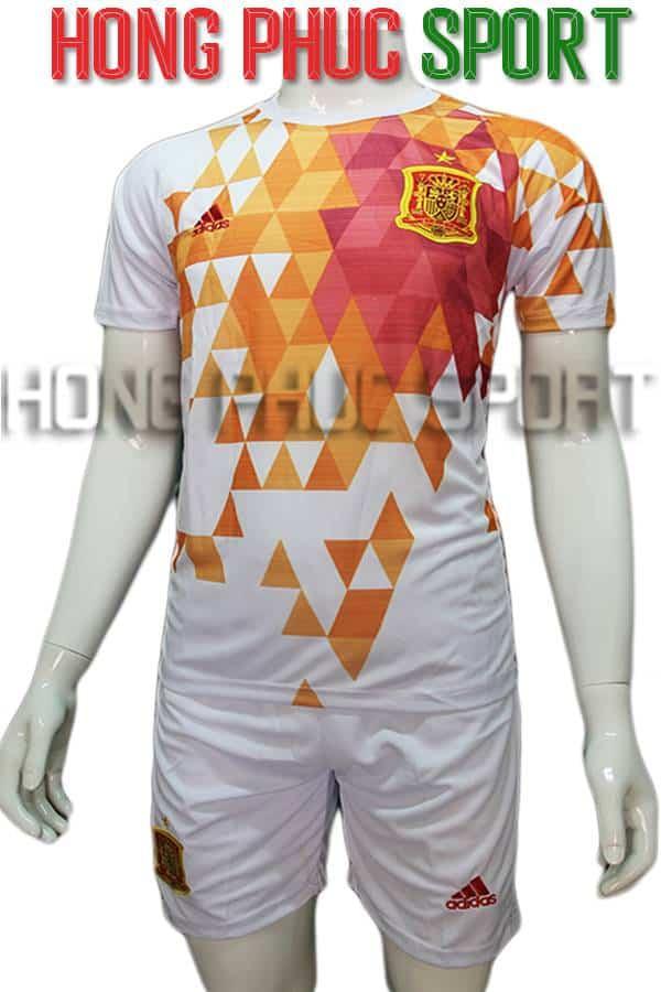 Bộ quần áo đá banh tuyển Tây Ban Nha Euro 2016 màu trắng