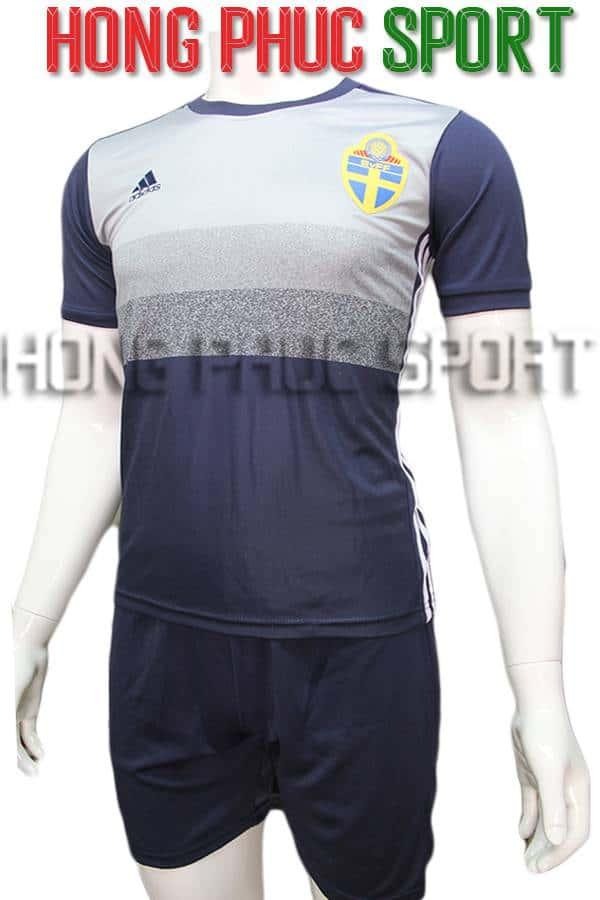 Bộ quần áo tuyển Thụy Điển Euro 2016 sân khách xanh tím than