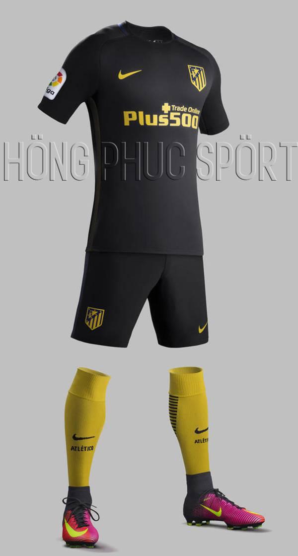 Bộ quần áo Atletico Madrid 2016 2017 sân khách mầu tím than