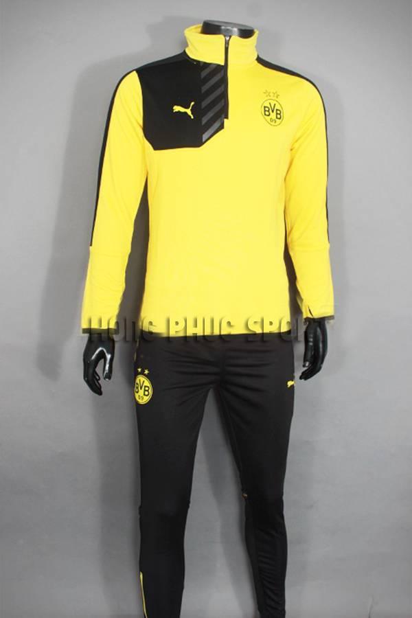 Bộ quần áo khoác Dortmund 2015-2016 vàng phối đen