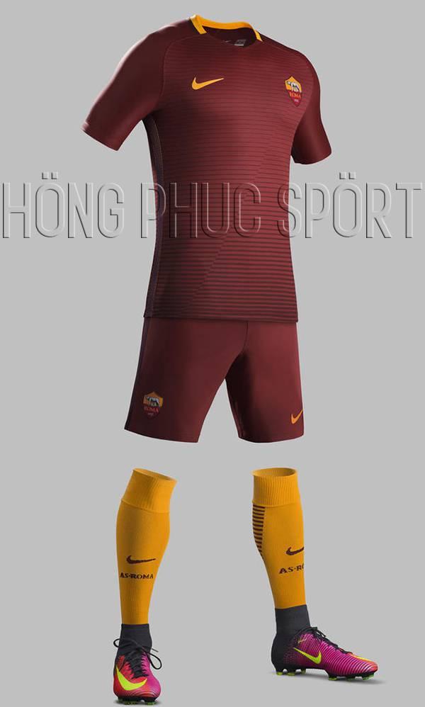 Mẫu áo AS Roma 2016 2017 sân nhà