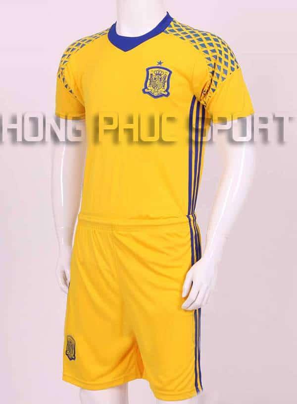 Đồ đá banh thủ môn tuyển Tây Ban Nha Euro 2016 màu vàng