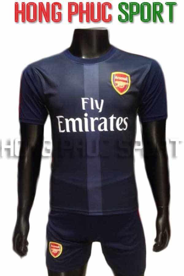 Bộ quần áo Arsenal 2016 2017 sân khách mẫu thứ 3 màu xanh tím than