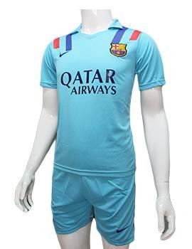 Mẫu quần áo Barcelona 2016 2017 sân khách xanh ngọc