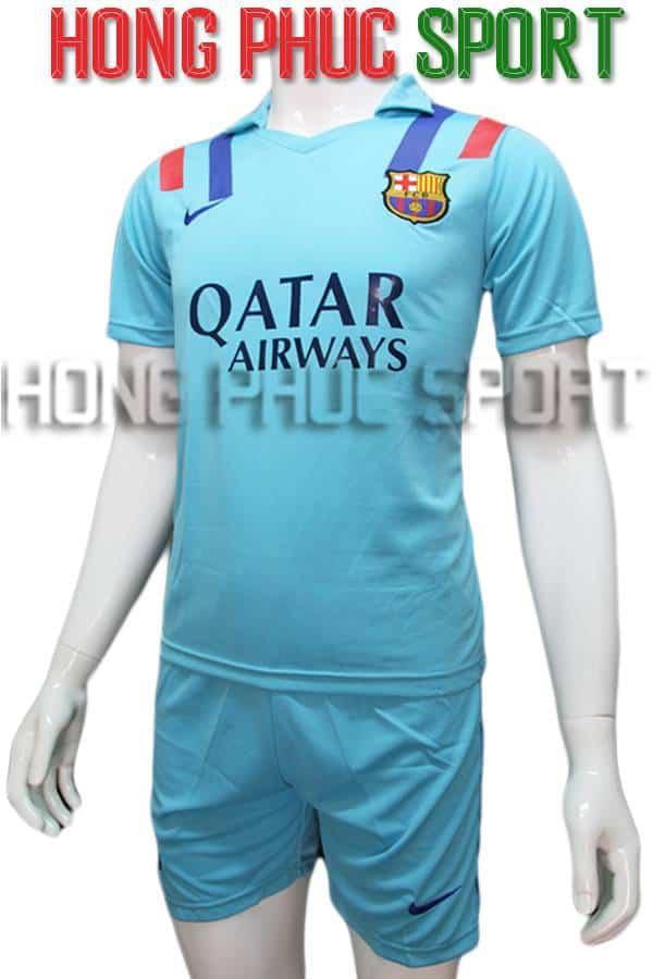 Bộ quần áo Barcelona 2016 2017 sân khách xanh ngọc