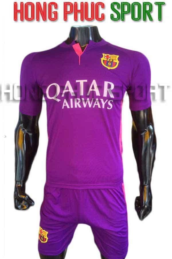 Bộ quần áo Barcelona 2016 2017 sân khách màu tím