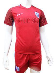 Mẫu áo tuyển Anh Euro 2016 2017 sân khách mầu đỏ mẫu phụ