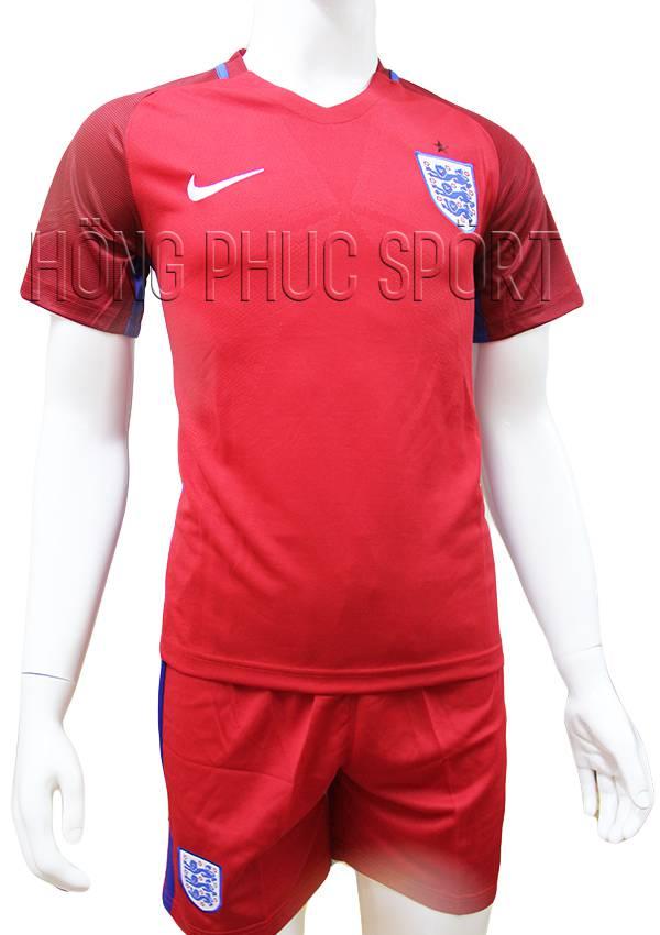 Bộ quần áo tuyển Anh Euro 2016 2017 sân khách mầu đỏ mẫu phụ