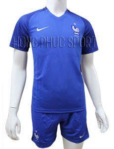 Mẫu áo đội tuyển Pháp Euro 2016 2017 sân nhà mầu xanh