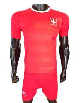 Mẫu quần áo tuyển Thụy Sĩ Euro 2016 sân nhà màu đỏ