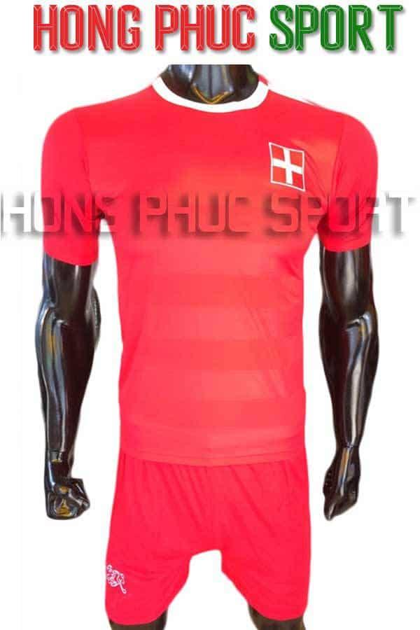Bộ quần áo tuyển Thụy Sĩ Euro 2016 2017 sân nhà màu đỏ