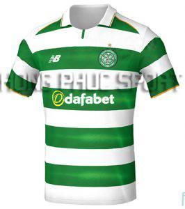 Mẫu áo Celtic 2016 2017 sân nhà màu xanh phối trắng