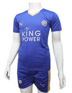 Mẫu quần áo Leicester City 2015 2016 sân nhà màu xanh