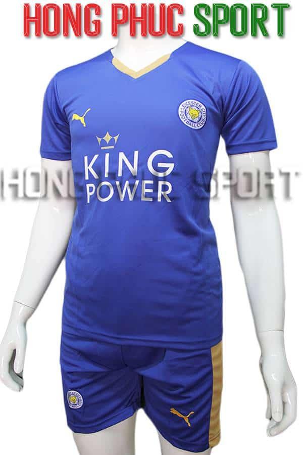 Bộ quần áo Leicester City 2015 2016 sân nhà màu xanh