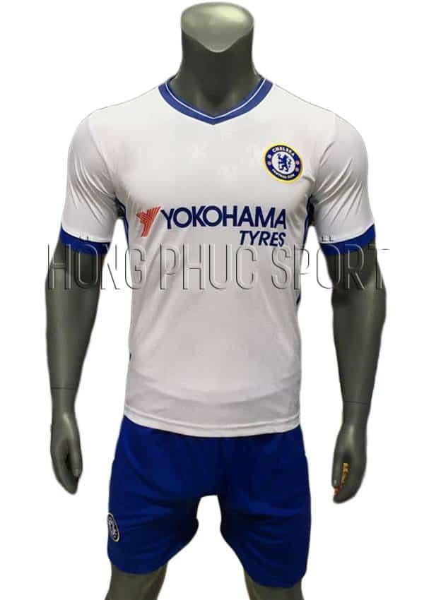 Bộ quần áo Chelsea 2016 2017 sân khách mầu trắng