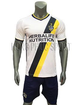Mẫu áo La Galaxy 2016 2017 sân nhà màu trắng