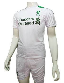 Mẫu quần áo Fan Liverpool 2016 2017 trắng phối xanh