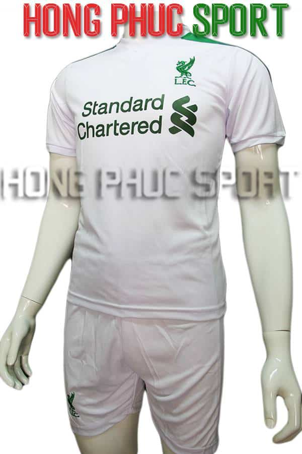 Bộ quần áo Fan Liverpool 2016 2017 trắng phối xanh