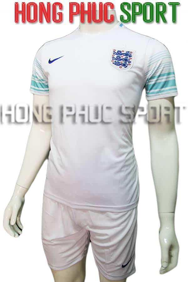 Bộ quần áo training tuyển Anh Euro 2016 2017 trắng xanh