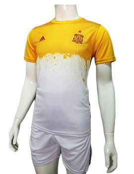 Mẫu quần áo training tuyển Tây Ban Nha Euro 2016 2017 vàng trắng