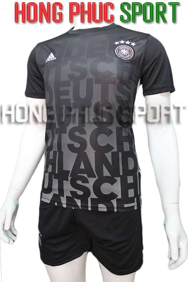 Bộ quần áo training tuyển Đức đen Euro 2016 2017
