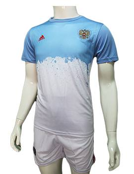 Mẫu quần áo training tuyển Nga Euro 2016 2017 xanh trắng