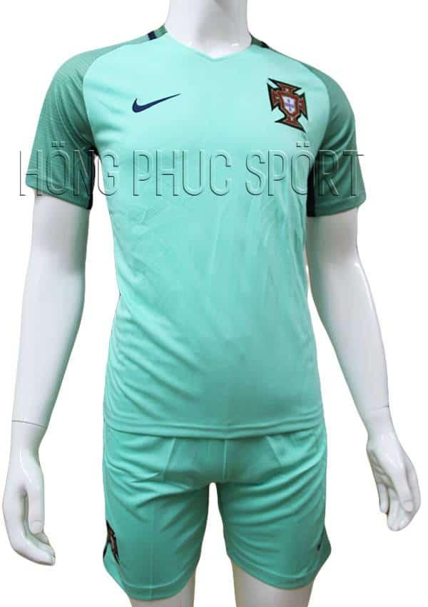 Bộ quần áo đội tuyển Bồ Đào Nha Euro 2016 2017 sân khách màu xanh ngọc