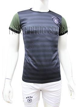 Mẫu quần áo tuyển Đức Euro 2016 sân khách sọc xanh rêu