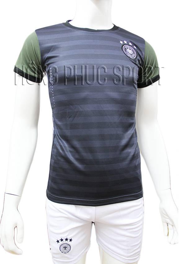 Bộ quần áo tuyển Đức Euro 2016 sân khách sọc xanh rêu