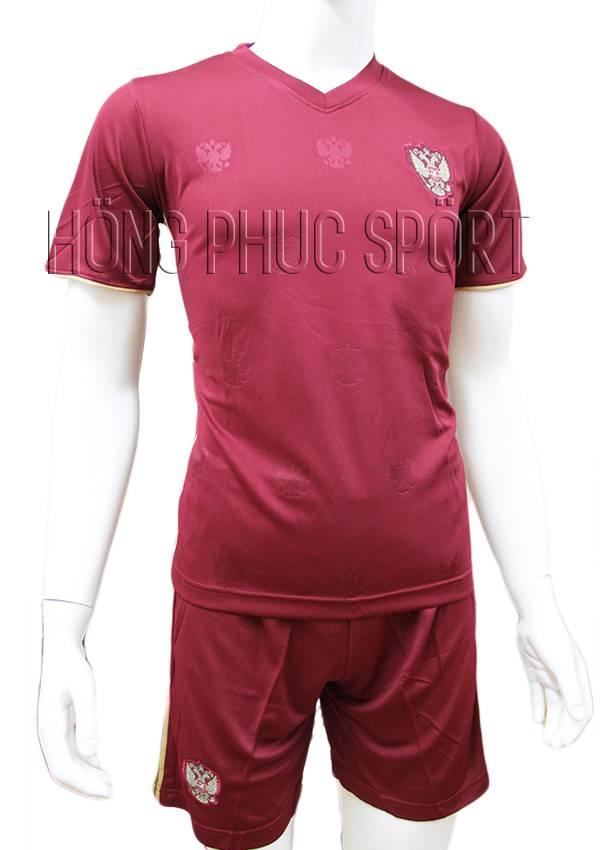 Bộ quần áo đấu tuyển Nga Euro 2016 sân nhà mầu đỏ bã trầu