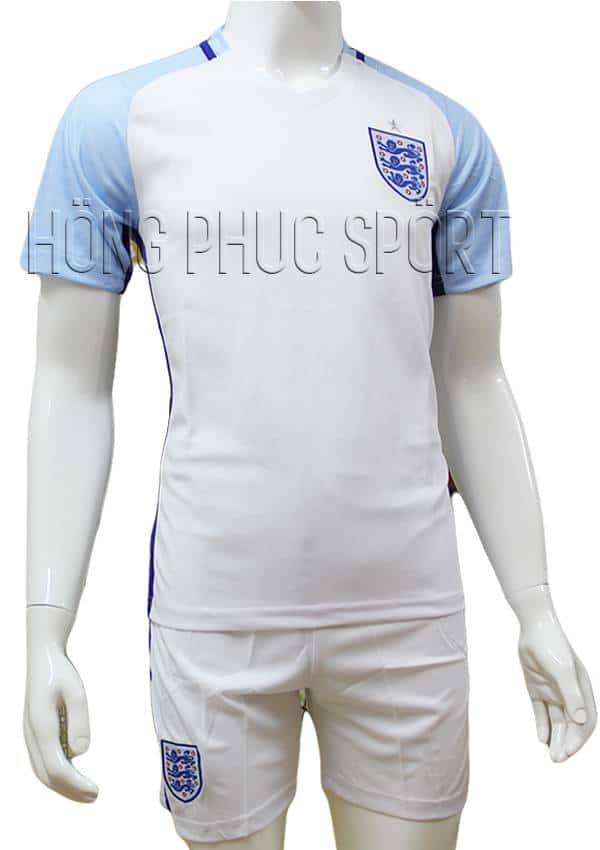 Bộ quần áo tuyển Anh Euro 2016 2017 sân nhà màu trắng mẫu chính