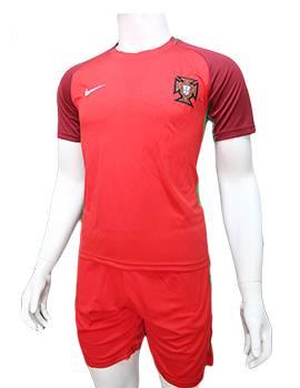 Mẫu áo tuyển Bồ Đào Nha Euro 2016 2017 sân nhà