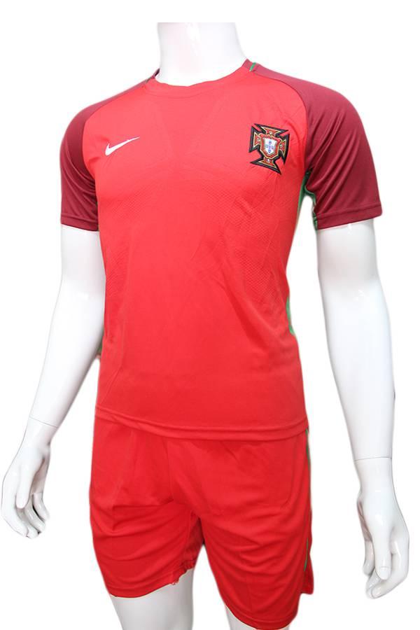 Mẫu quần áo đội tuyển Bồ Đào Nha Euro 2016 2017 sân nhà màu đỏ