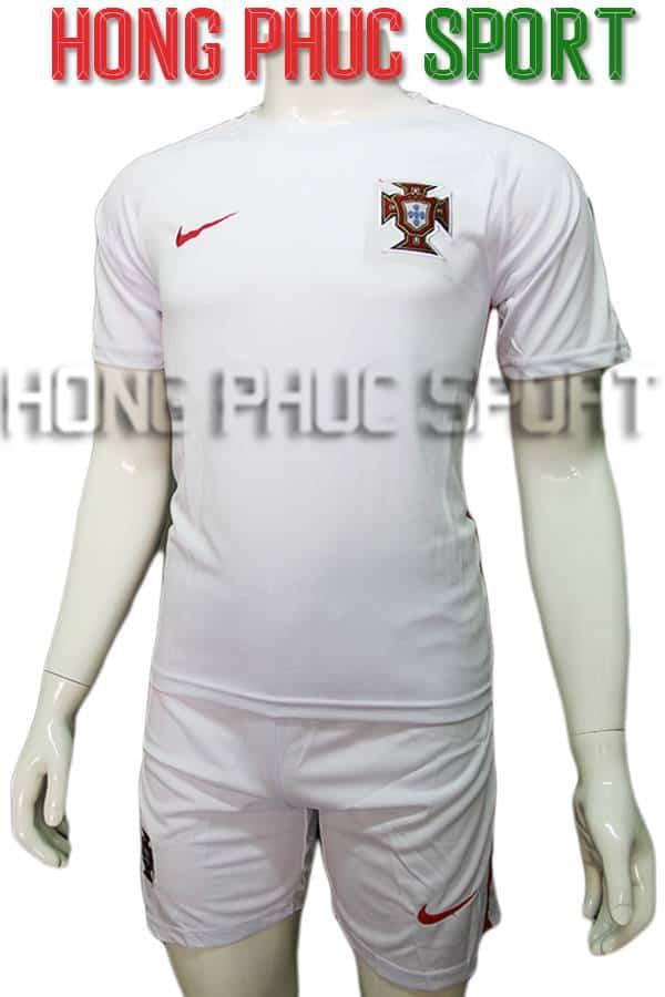 Bộ quần áo tuyển Bồ Đào Nha Euro 2016 2017 màu trắng