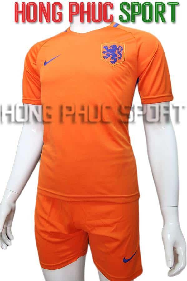 Bộ quần áo tuyển Hà Lan Euro 2016 2017 sân nhà màu cam