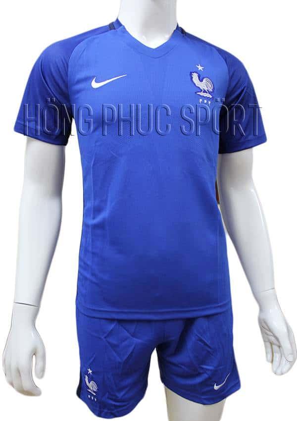 Mẫu quần áo đội tuyển Pháp Euro 2016 2017 sân nhà màu xanh lam
