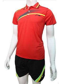 Mẫu áo cầu lông nam Lining NB01 đỏ