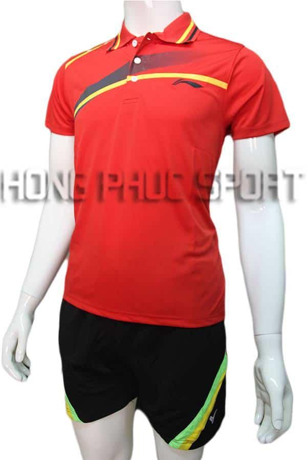 Bộ quần áo cầu lông nam Lining NB01 đỏ
