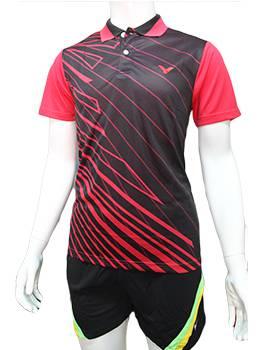Mẫu áo cầu lông nam Lining NB04 hồng phối đen