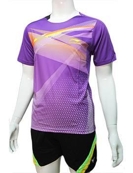 Mẫu áo cầu lông nam Lining NB05 màu tím