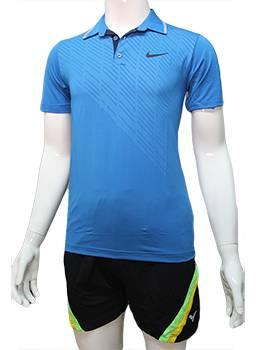 Mẫu áo cầu lông nam Nike NB06 màu xanh