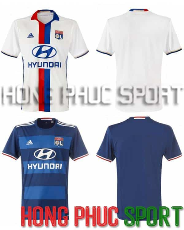 Bộ quần áo đấu Lyon 2016-2017 sân nhà sân khách
