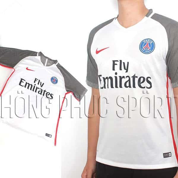 Mẫu áo đấu PSG 2016 2017 sân khách mầu trắng