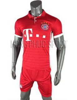 Mẫu áo đấu Bayern Munich 2016 2017 sân nhà mầu đỏ