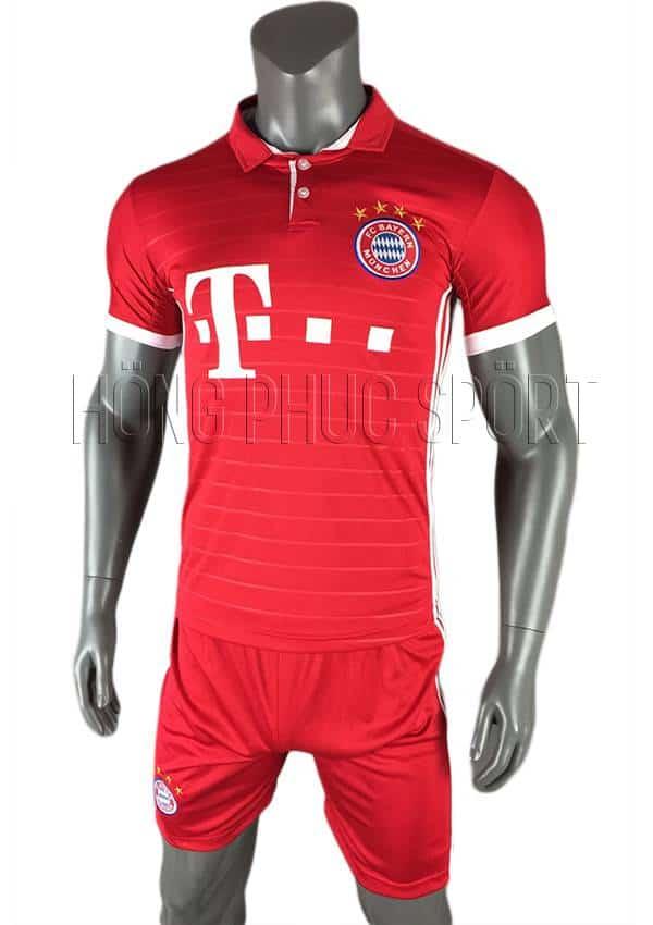 Bộ quần áo đấu Bayern Munich 2016 2017 sân nhà mầu đỏ